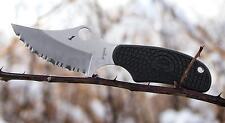SCFB35SBK Spyderco ARK Neck Knife H1 Serrated Blade Black FRN Handles Made Japan