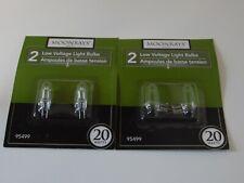 Woods MoonRays 95499 Low Voltage Halogen Light Bulbs, 4pk