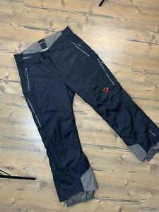 Mammut APEX Men's Black Dark Gray Ski Insulated Pants Size 27 (54)