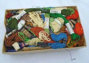 Job Lot Vintage Silks Embroidery Thread Cotton Cartier Bresson Coats Anchor