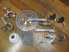 VINTAGE CAMPAGNOLO 6 SPEED 170 52/42 GROUP DOWN TUBE COMPLETE BUILD KIT GRUPPO
