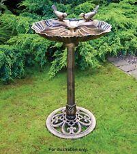 Bronze effect pedestal garden ornaments bird bath stand centrepiece outdoor
