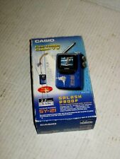 Casio SY-21 LCD Color Television 2.25 Inch UHF & VHF Splash Proof NWOT