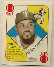 2015 Topps Heritage '51 Collection Prince Fielder 90 Mini Green Back Parallel SP