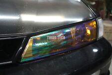 "12""x24"" Neo ORANGE Chameleon Color Tint Vinyl Wrap Sticker Headlight Fog Film"