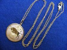 "$28 Nordstrom TAURUS Horoscope Sign Zodiac Pendant Necklace Goldtone 36"" Long"