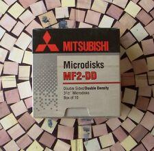 """MITSUBISHI MF2 DD Microdisks Floppy Disk 3 1/2"""" 3,5"""" Doppia Faccia Densità 2S 2D"""