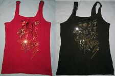 LOT 2 HANNAH MONTANA DISNEY Sleeveless Sequin Tunic Tank Top Shirt Girl L 10/12
