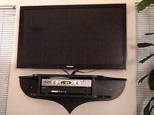 Wall Unit for Flat screen TV, black, white, wood grain  by Teleloft