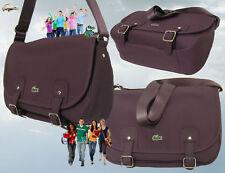 LACOSTE MESSENGER SATCHEL Shoulder Bag ED Classic 15 Burgundy AUTHENTIC