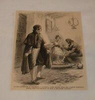 1879 magazine engraving ~ CASANOVA IN BARCELONA, Spain