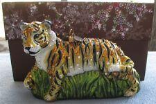 Jay Strongwater Safari Tiger Ornament Swarovski Elements New in Box