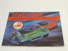 Edition 1971 Matchbox Collector/'s Guide Catalog U.S.A