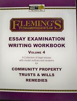 Fleming's Law Essay Examination Writing Workbook Volume 4 Paperback
