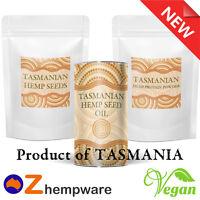 HEMP SEEDS OIL PROTEIN POWDER TASMANIAN GROWN ORGANIC PRODUCT OF AUSTRALIA