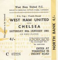 Ticket - West Ham United v Chelsea 30.01.65 FA Cup