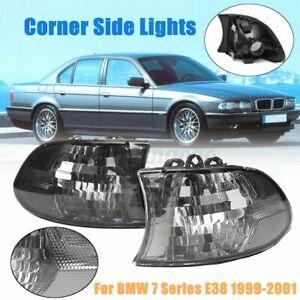 Pair Smoked Euro Corner Signal Light For BMW E38 7Series 740i 740iL 750iL