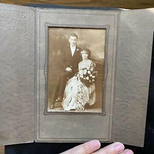 Vintage Wedding Photo 1920's Art Deco Bride Groom