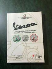 ONLY BOX SOLO BOX VUOTO X 5 EURO 2019  ITALIA ITALY  BOX TRITTICO VESPA