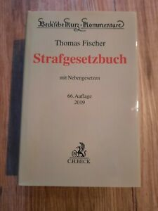 Fischer Strafgesetzbuch StGB Kommentar 66. Auflage 2019