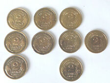 9 PIECES DE MONNAIE 2 FRANCS MORLON BRONZE