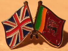 UK & SRI LANKA FRIENDSHIP Flag Metal Lapel Pin Badge Great Britain
