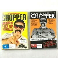 Heath Franklin Chopper 2 DVD Lot Region 4 Harden F*ck Up Australia Dead Sh*ts