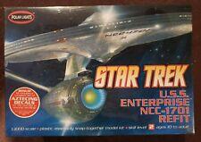 Polar Lights 1/1000 Star Trek USS Enterprise NCC-1701 Refit Kit w/Aztec Decals