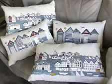 4 x John Lewis rectangular coastal theme cushions, excellent condition