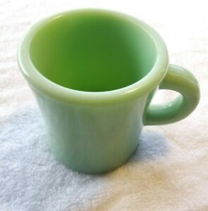 Jadeite C Handle Mug Coffee Cup Thick Fire King Restaurant/Oven Ware Vintage