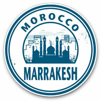 2 x Vinyl Stickers 7.5cm - Morocco Marrakech Travel Stamp Cool Gift #5731