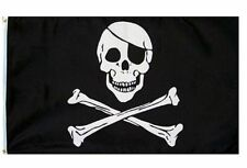 2X3 Jolly Roger Pirate Eye Patch Skull Crossbones Flag 2'x3' Banner USA SELLER