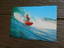C 1970's cracking the big wave Surfer surfing surfbaord postcard Australia