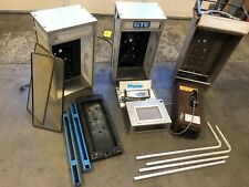 LOT OF VINTAGE LIGHTED ALUMINUM PAYPHONE BOOTH ENCLOSURE GTE/CENTURYLINK