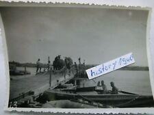 Foto mit Behelfsbrücke über die Warthe.(14)