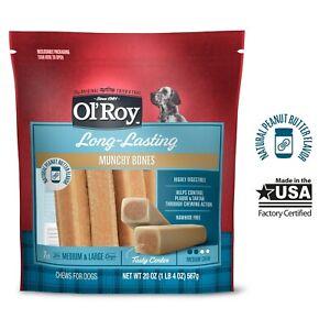 Ol' Roy Mini Munchy Bone Peanut Butter For Medium & Large Dogs 20 oz Bag