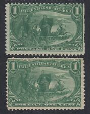 TDStamps:US Stamps Scott#285 (2) Mint NH OG 1 Lightly Crease