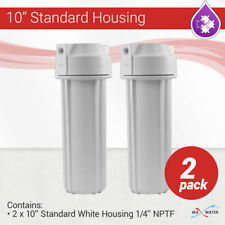 """2 x 10"""" Reverse Osmosis Water Filter White Housing 1/4"""" NPT with Double O Ring"""