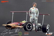 1/18 Graham Hill figure VERY RARE !!! for 1:18 Autoart Exoto CMC Lotus