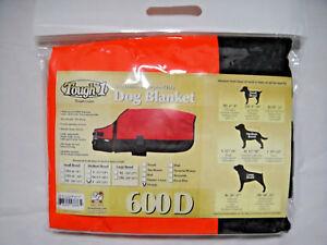 New Waterproof Dog Blanket 600D Orange Black Winter Coat Jacket Tough1 Clothes
