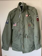 Polo Ralph Lauren M6 67 Peace Love Print Military Field Jacket Men's Small $498