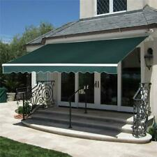 9.8 x 6.5 ft. Manual Retractable Awning Green Model Outdoor Deck & Patio Canopy