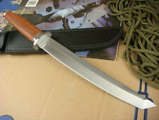"""14.7"""" Sharp 58HRC 5mm camp combat rescue assault bowie survival hunting knife"""