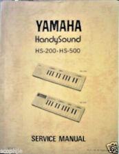 Yamaha Hs-500 Hs-200 HandySound Mini Keyboards Original Service Manual Book