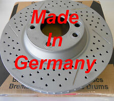 Fits Cayenne Drilled Slotted Brake Rotors F+R Set Made In Germany 350MM 330MM