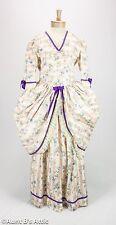 Colonial Costume Ladies Handmade 2 Pc Peach Cream & Lav. Historical Dress Lg-Xl
