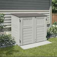 Outdoor Storage Shed Bike Garbage Can Toys Pool Tools Horizontal Utility Cabinet