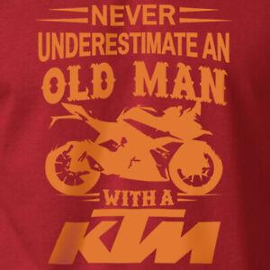 KTM RACING T-Shirt Father's Day MX SX Biker Motorcycle on Ring Spun Cotton Tee