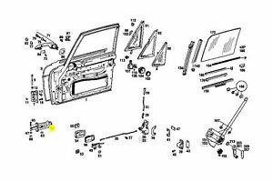 Mercedes Door Stop Limiter Front New OEM W108 W109 W114 W115 Coupe Sedan