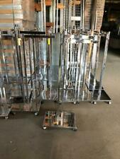 2 Way Clothing Racks T Stand Lot 15 Used Clothing Store Fixtures Chrome Wheels